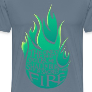 Sacred Fire - Green Version - Maglietta Premium da uomo