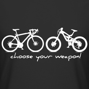 Choose Your Weapon - Rennrad vs MTB :) - Männer Urban Longshirt
