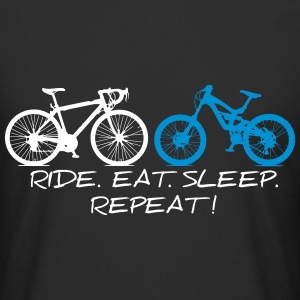 RIDE EAT SLEEP REPEAT T-Shirts - Männer Urban Longshirt