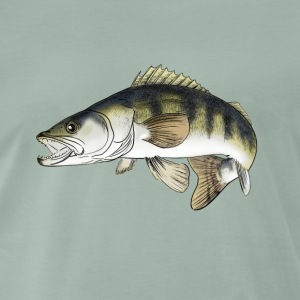 pike-perch T-shirts - Herre premium T-shirt