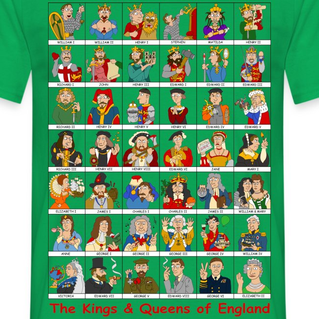 Kings & Queens of England (Front)