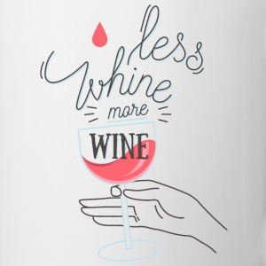 White Less wine more wine Mugs & Drinkware - Mug