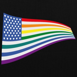 United States Rainbow flag Bags & Backpacks - Tote Bag
