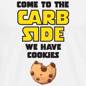 Come To The Carb Side - We Have Cookies T-shirts - Mannen Premium T-shirt