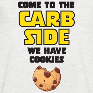 Come To The Carb Side - We Have Cookies T-shirts - Mannen T-shirt met V-hals
