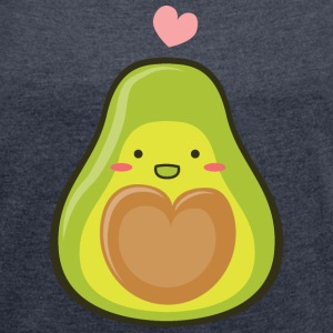 Avocado Love Couple (Part1) T-Shirts - Frauen T-Shirt mit gerollten Ärmeln