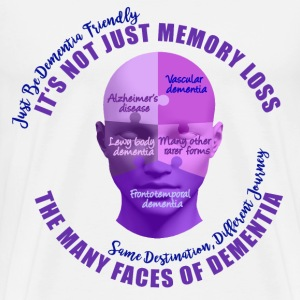 The Many Faces of Dementia. - Men's Premium T-Shirt