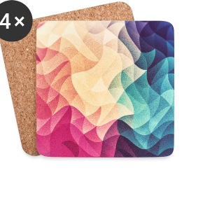 Abstract low poly color pattern design (spectrum) Mugs & Drinkware - Coasters (set of 4)