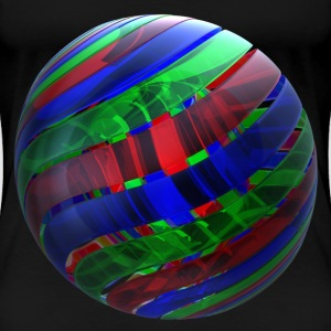 RGB Nested Ribbon Spheres - Women's Premium T-Shirt