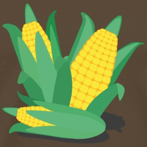 Corn on the cob, green and yellow T-Shirts - Men's Premium T-Shirt