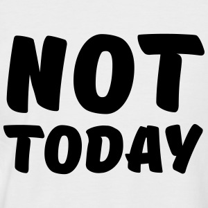 Not today Tee shirts - T-shirt baseball manches courtes Homme