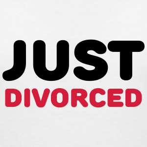 Just divorced T-Shirts - Women's V-Neck T-Shirt