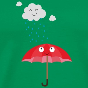Rain cloud and umbrella T-Shirts - Men's Premium T-Shirt
