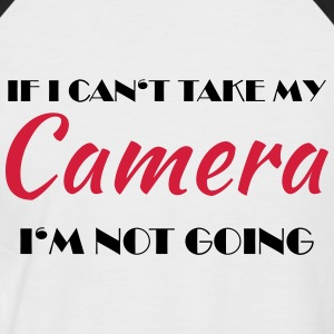 If I can't take my camera... Magliette - Maglia da baseball a manica corta da uomo