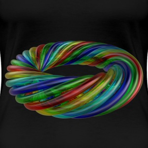 Colourful Multicolour Glass Rope - Women's Premium T-Shirt