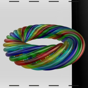 Colourful Multicolour Glass Rope - Full Color Panoramic Mug