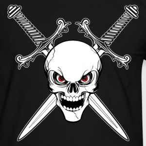 skull and swords Tee shirts - T-shirt contraste Homme