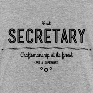 Best Secretary - craftsmanship at its finest Shirts - Teenage Premium T-Shirt