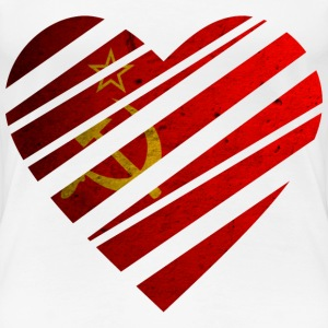 Soviet Union Heart T-Shirts - Women's Premium T-Shirt