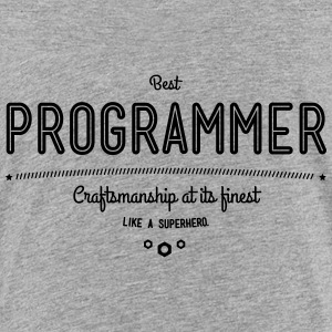 Best programmer - craftsmanship at its finest Shirts - Teenage Premium T-Shirt