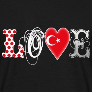Love Turkey White - Männer T-Shirt