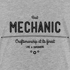 Best mechanic as a super hero Shirts - Teenage Premium T-Shirt