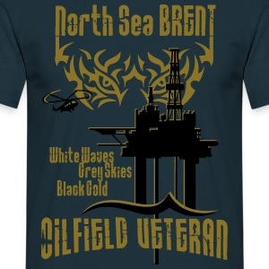 Brent Oilfield Oil Rig Veteran T-Shirts - Men's T-Shirt