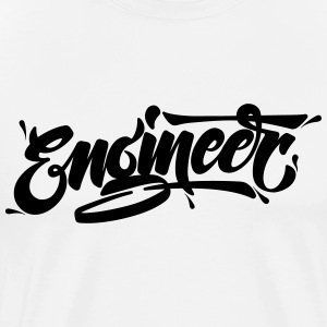 Engineer (Typography Logo) T-shirts - Herre premium T-shirt