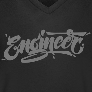 Engineer (Typography Logo) T-Shirts - Men's V-Neck T-Shirt
