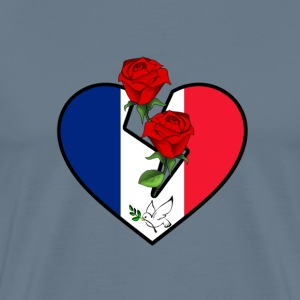 Love and Peace for France T-Shirts - Männer Premium T-Shirt