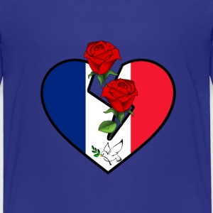 Love and Peace for France Shirts - Kids' Premium T-Shirt