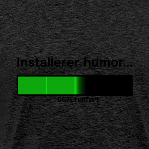 Installerer humor... - Premium T-skjorte for menn