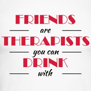 Friends are therapists you can drink with Manches longues - T-shirt baseball manches longues Homme