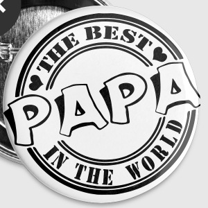 Papa The best in the worl Buttons & Anstecker - Buttons groß 56 mm