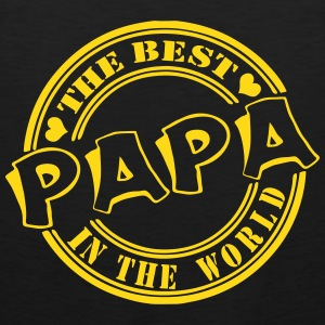 Papa The best in the worl Sportbekleidung - Männer Premium Tank Top