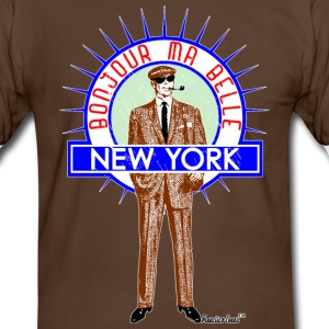 Bonjour ma belle New York by Francisco Evans ™ - Männer Kontrast-T-Shirt