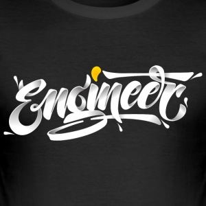 Engineer (3D Typography Style) T-shirts - Herre Slim Fit T-Shirt