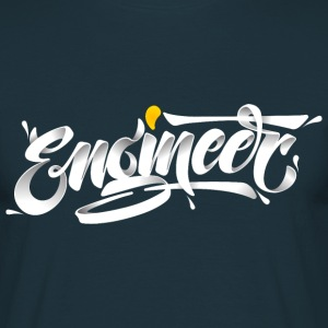 Engineer (3D Typography Style) T-Shirts - Men's T-Shirt