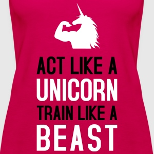 Act like a Unicorn Tops - Frauen Premium Tank Top