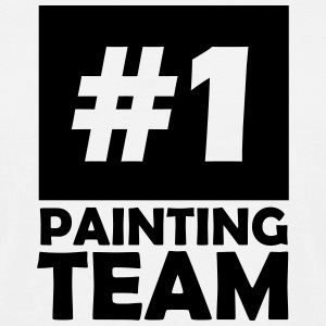 number one painting team T-Shirts - Men's T-Shirt