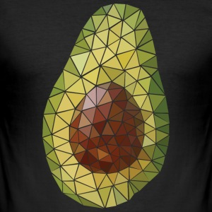 Avocado (Polygon Style) T-Shirts - Männer Slim Fit T-Shirt