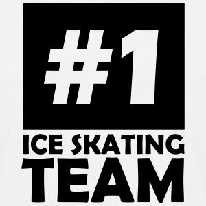 number one ice skating team T-Shirts - Men's T-Shirt