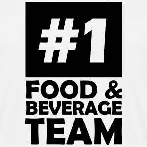 number one food and beverage team T-Shirts - Men's T-Shirt