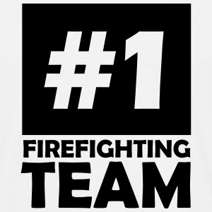 number one firefighting team T-Shirts - Men's T-Shirt