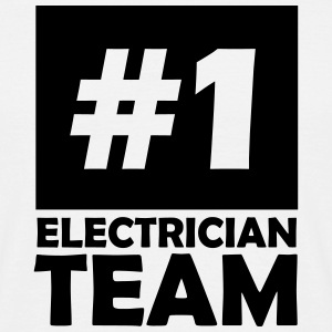 number one electrician team T-Shirts - Men's T-Shirt