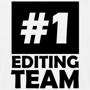 number one editing team T-Shirts - Men's T-Shirt