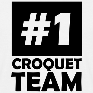 number one croquet team T-Shirts - Men's T-Shirt