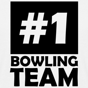 number one bowling team T-Shirts - Men's T-Shirt