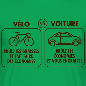 Vélo Vs Voiture Tee shirts - T-shirt Homme