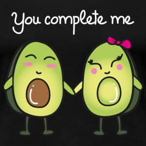 You Complete Me (Avocado) T-Shirts - Frauen Premium T-Shirt